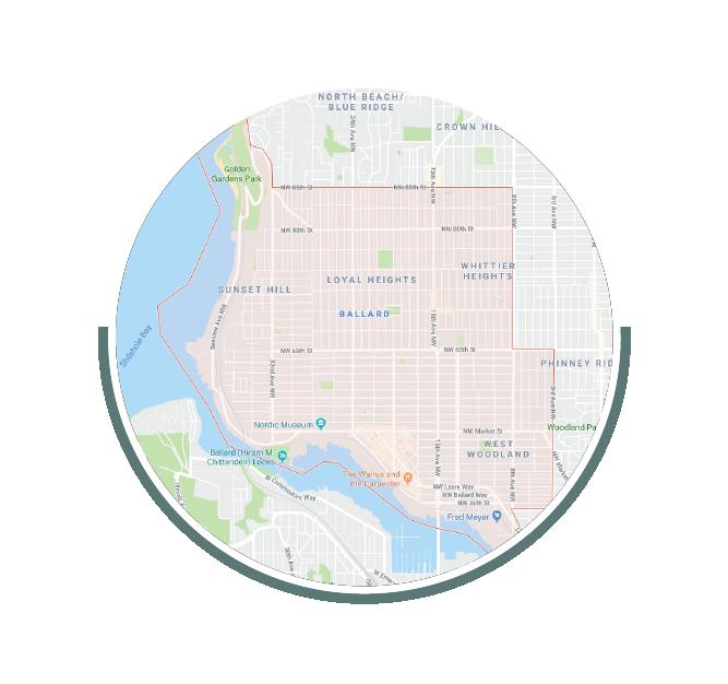 google map of Ballard